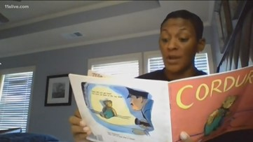 Elementary school principal reads to students online