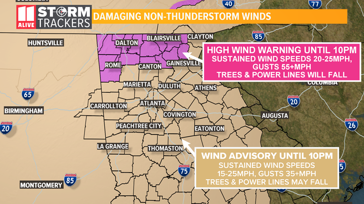 High wind warning, advisory