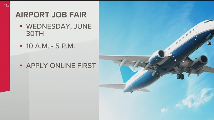 Airport job fair set for Wednesday