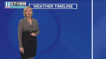 Weather timeline for Jan. 19, 2019