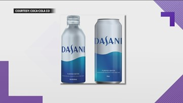 Dasani takes steps to reduce plastic waste by putting water in cans