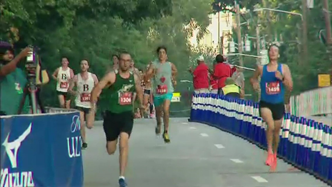Re-live the finish line of the AJC Peachtree Road Race