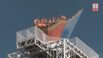 Atlanta Olympic cauldron re-ignited for 2020 US Marathon Trials