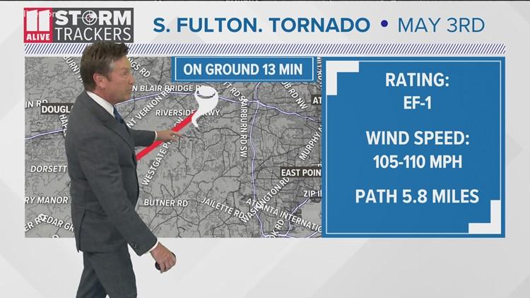 EF-1 tornado sweeps through South Fulton