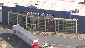 A Toys R Us sign can be seen again in metro Atlanta, and we're not sure why