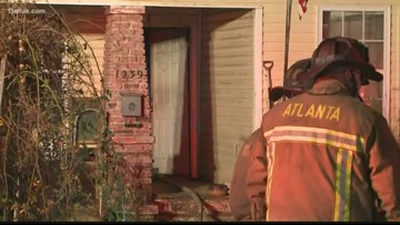 Woman suffers second, third-degree burns in Atlanta house fire
