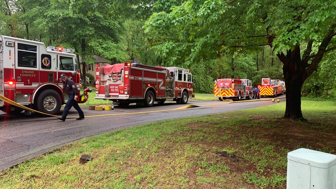 Four firefighters hurt, engine overturns while responding to