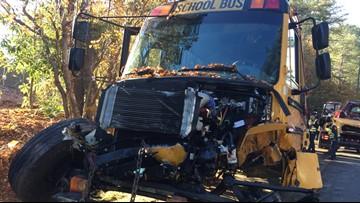 Teen driver collides head-on into school bus in Marietta