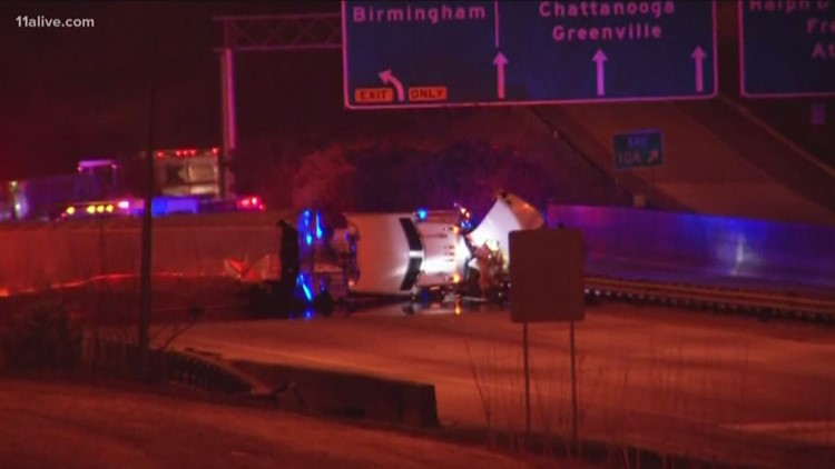 Truck spills tons of ink on I-285, causes massive traffic backup
