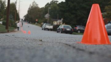 Neighborhood combats speeders with cones and chalk