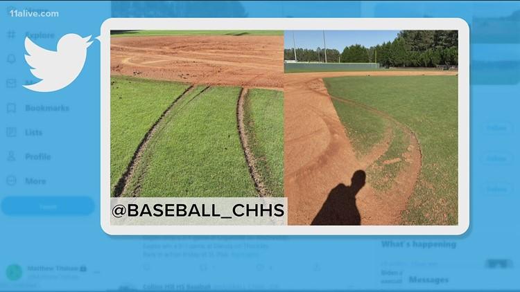 Gwinnett Stripers help Collins Hill High after baseball field vandalized