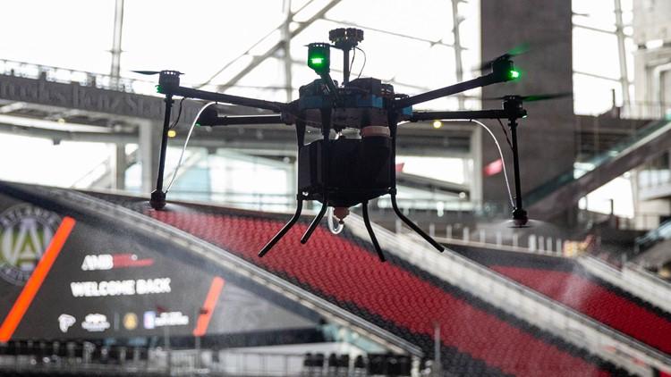 Mercedes-Benz Stadium using drones as part of sanitizing program