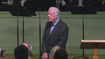 Jimmy Carter unable to teach Sunday school after surgery