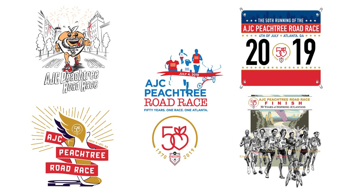 e748df143 2019 AJC Peachtree Road Race t-shirts: Vote for your favorite! | 11alive.com