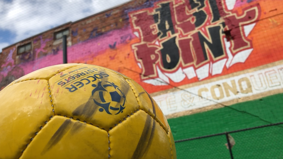Downtown East Point gets a kick out of new soccer field