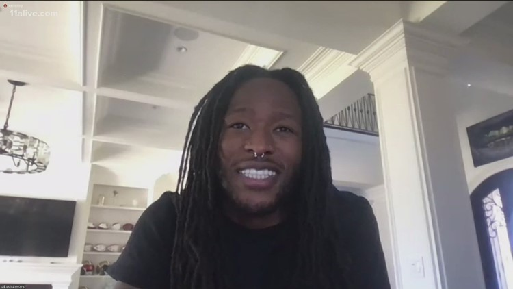 Norcross native Alvin Kamara of New Orleans Saints sponsoring NASCAR team