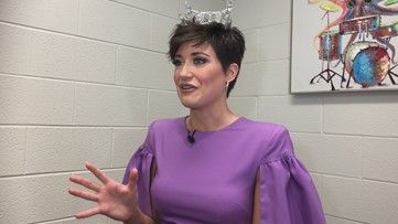 Miss Georgia Victoria Hill visits Forysth County students
