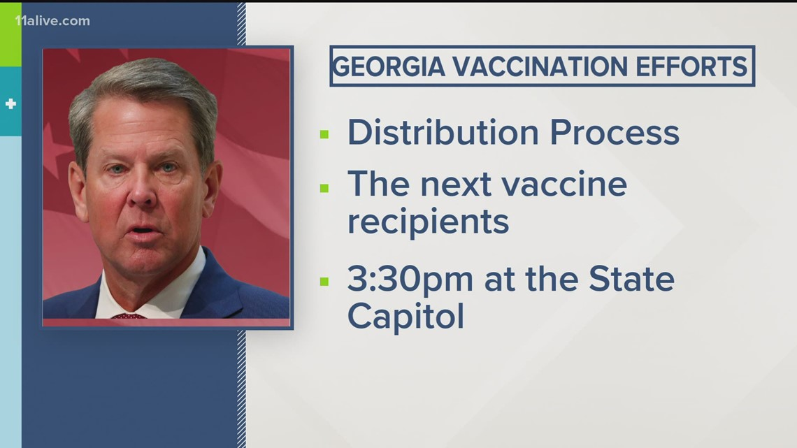 Gov. Kemp to hold press conference today on vaccine distribution