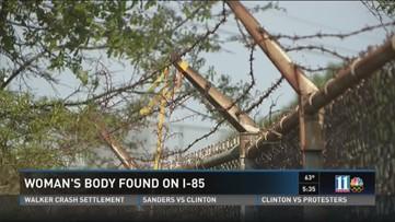 Police identify woman's body found near I-85