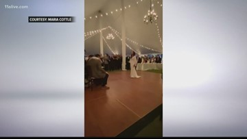 Former UGA baseball player who was paralyzed in accident dances at his wedding