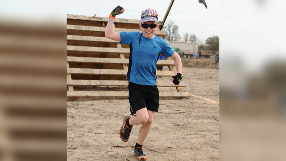 Visually impaired boy looks to inspire as he competes in Spartan races