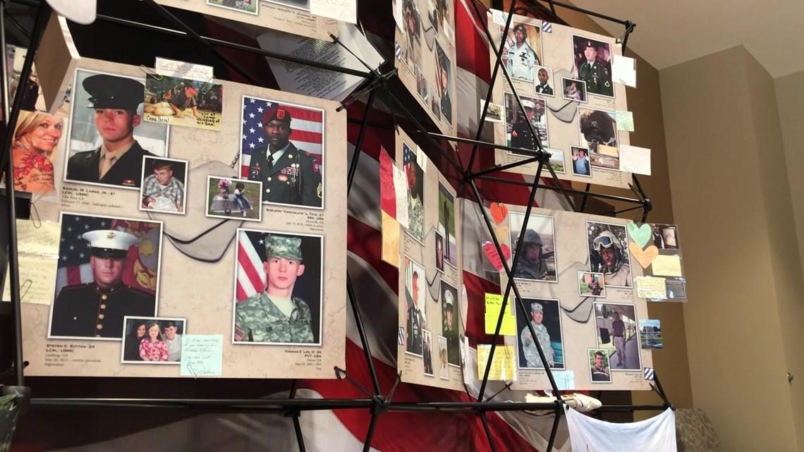 'Remembering Our Fallen' memorial honoring Georgia service members goes up in honor of 9/11