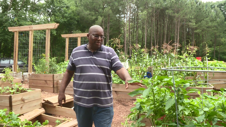 Douglas Hardeman in Urban Food Forest