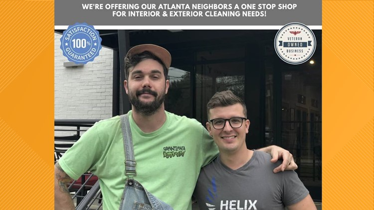 GrantLanta Lawn & Helix Cleaning Services owners, Grant Wallace and Lawrence Johnson