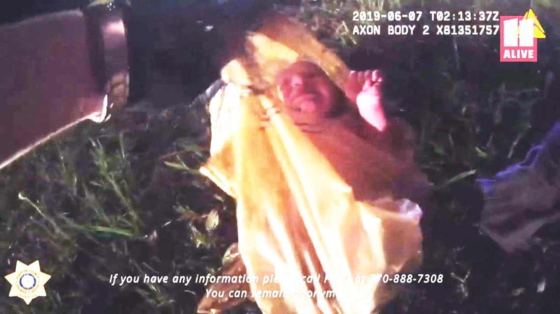 Police rescue newborn from plastic bag in incredible video