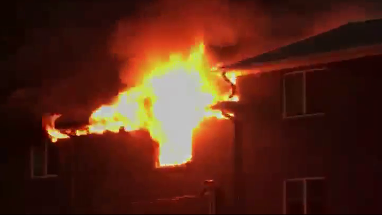 Apartment fire displaces at least 25 in DeKalb County