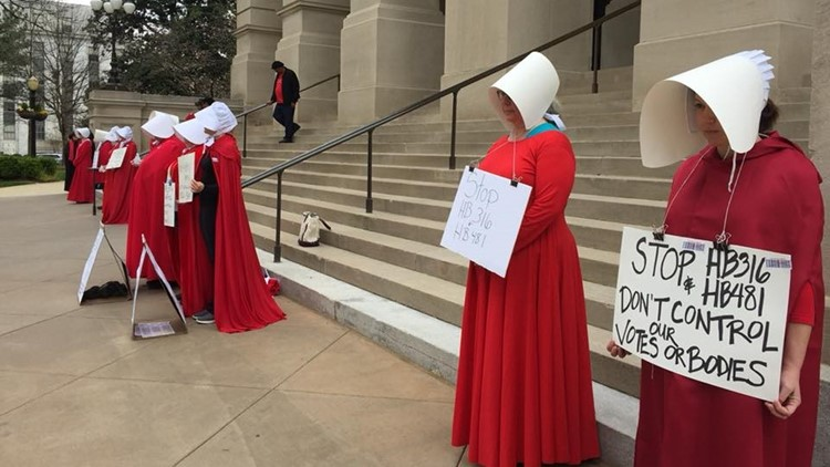 Women protest abortion bill at Georgia capitol