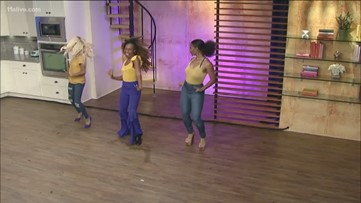 The women of Sigma Gamma Rho Sorority, Inc. showcase their moves on Sister Circle Live