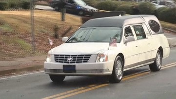 Body of DeKalb officer killed in line of duty escorted home