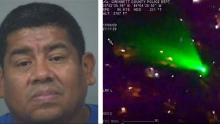 Man arrested for pointing laser at police helicopter, said he was doing it 'for fun'