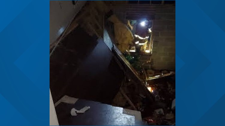 Athens party causes floor collapse injuring dozens