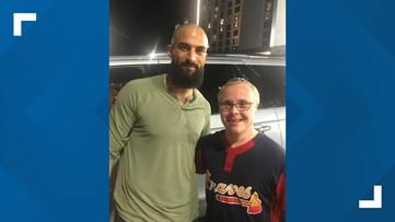 Police officers, stadium staff arrange for Braves fan to meet favorite player