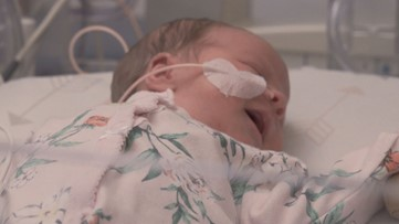 Meet Willow. She's one of ten Savannah newborns transported to an Atlanta hospital ahead of Dorian.