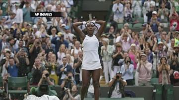 """15-year-old Atlanta native Cori """"Coco"""" Gauff beats Venus Williams in Wimbledon debut"""