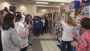 Berlin Wall replica at South Forsyth High School