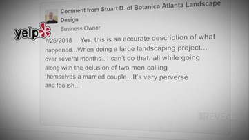 Business owner cites religious beliefs when refusing to work with gay couple