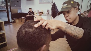 Barbershop owner hopes her story about overcoming depression, traumatic experiences helps others