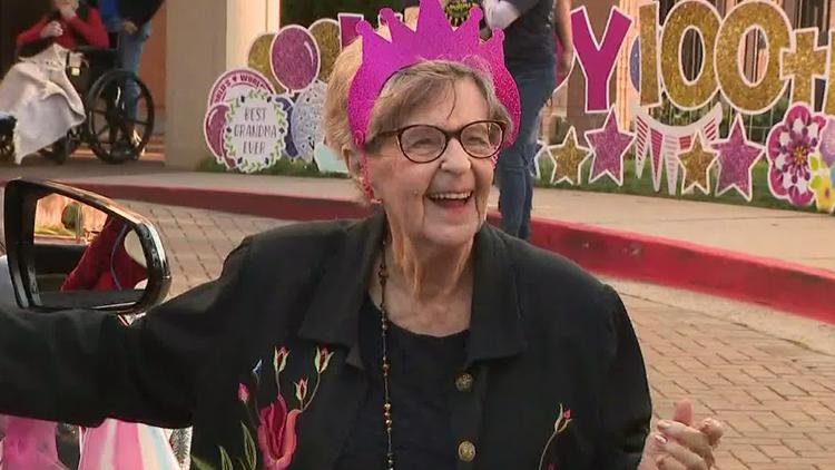 Family celebrates Atlanta woman's 100th birthday with socially-distanced celebration, car parade