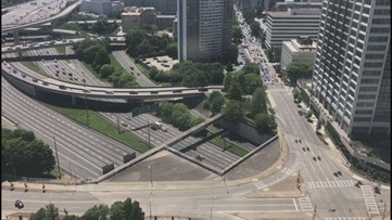 This is what President Trump's motorcade looked like rolling through Atlanta