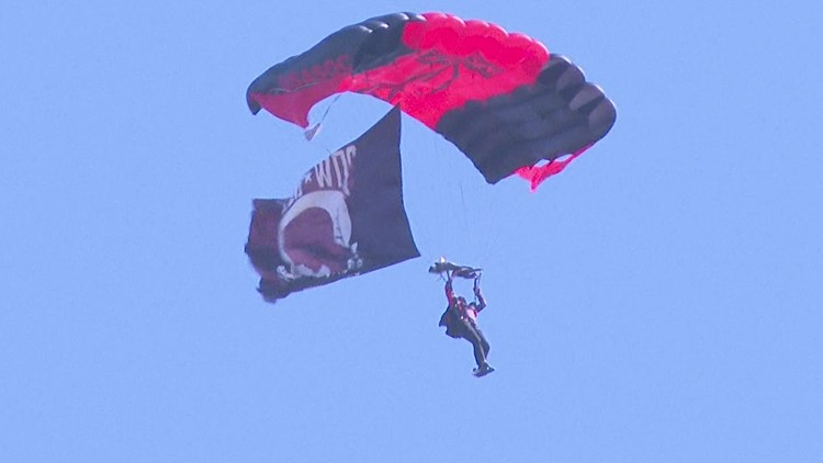 U.S. Army parachute salute for healthcare workers in Cartersville
