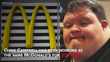 Man with Down syndrome honored for working at same McDonald's for 27 years