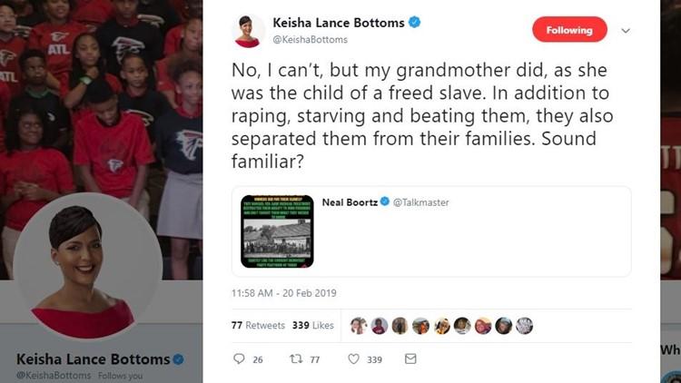 Tweet Keisha Lance Bottoms