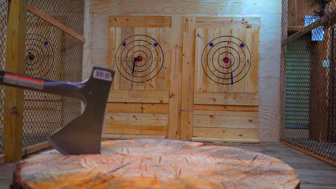Axe throwing gains popularity
