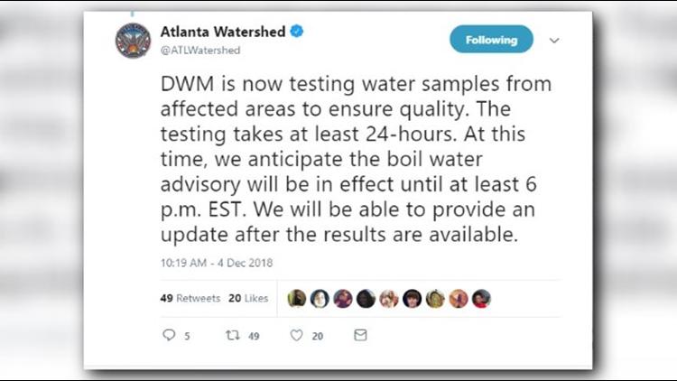 Atlanta Boil Water Advisory Lifted 11alive Com