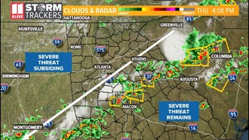 LIVE UPDATES: Severe Thunderstorm Watch shrinks to 49