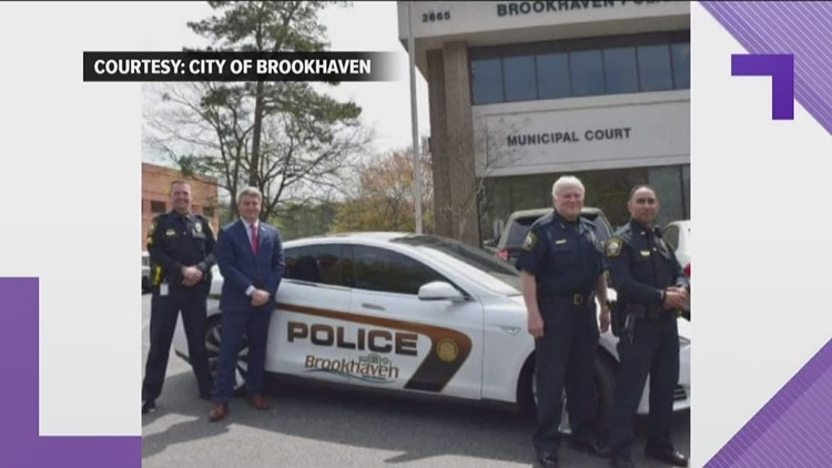 Brookhaven Police tests its first Tesla patrol car